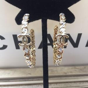 Authentic Chanel Gold Hoop Earrings